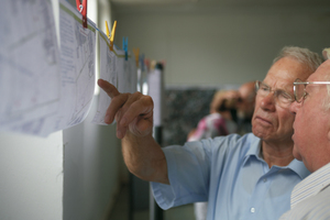 Bei der Planungswerkstatt, zu der das Team der NH ProjektStadt in die südhessische Kommune Bürstadt lud, konnten sich die Bürger über die Neugestaltung des Haag'schen Geländes informieren und eigene Vorschläge und Ideen einbringen