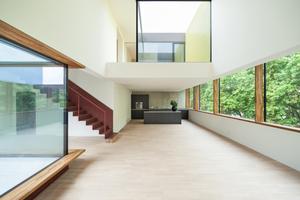 Die Wohnung wird durch zwei große Lichthöfe und mehrere Terrassen strukturiert