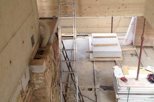 Durch die hohe Vorfertigung waren die Montagearbeiten des Holzbaus binnen einer Woche abgeschlossen