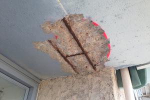 Schäden an den Unterseiten der Loggia-Platten<br />