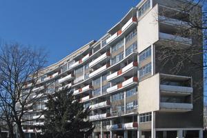 Die Wohnanlage wurde 1957 unter Führung von Walter Gropius realisiert<br />