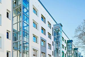 Der MonoSpace von KONE ermöglichte erstmals in nennenswertem Umfang die Aufzugnachrüstung, um Gebäude barrierefrei zu erschließen