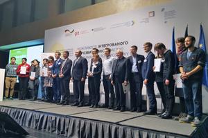 Baustaatssekretär Gunther Adler und der ukrainische Minister für Regionalentwicklung, Gennadij Zubko, zeichneten die Preisträger aus