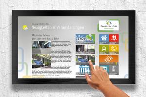 Die Wohnungsgenossenschaft Kleefeld-<br />Buchholz eG setzt Digitale Bretter ein