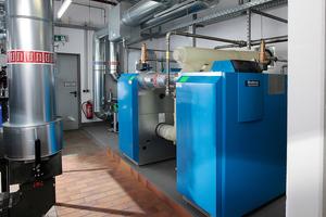 Der Gas-Brennwertkessel Logano plus GB312-240 erreicht einen hohen Teillastwirkungsgrad von bis zu 97 % und lässt sich in Kaskade schalten
