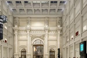 Blick in das Foyer: Rendering des Architekten