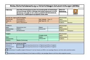 Ergebnisblatt zur Risiko-/Sicherheitsbewertung