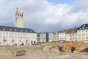Ambitionierte Stadtentwicklung gleich in Nachbarschaft des Mülheimer Rathauses: Bis Frühjahr 2019 entsteht hier das neue Quartier Schloßstraße