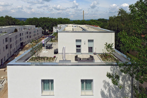 Die Staffelgeschosse bieten mit sonnengefluteten Terrassen besonderen Wohnkomfort