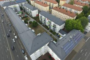 In der Fürther Südstadt sanierten die ARGE Fürther Baugenossenschaften GmbH und der Fürther Bauverein eG insgesamt knapp 70 Mehrfamilienhäuser