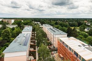 Direkter Vergleich: Fünf Bestandsgebäude wurdenzu Vergleichszwecken mit unterschiedlichen Dämmmaterialien saniert