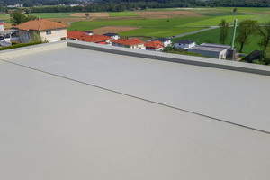 Die Flächenabdichtung auf PMMA-Basis sorgt für eine langlebige Gebäudehülle