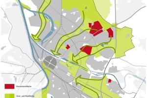 Der Grünzug verbindet zukünftig Stadtteile und die neuen Wohngebiete