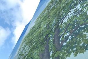 Blickfang: Blauer Himmel, täuschend echt aussehende Bäume<br />