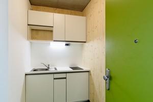 Jede Wohneinheit verfügt über eine integrierte Küche