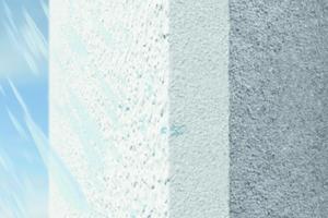 """<irspacing style=""""letter-spacing: -0.01em;"""">Bei stark wasserabweisenden (""""hydrophoben"""") Oberputzen bleibt nach der Beregnung lange Zeit Feuchtigkeit auf der Oberfläche stehen.</irspacing>"""