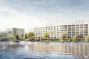 """Die beiden Gebäude mit dem Namen """"QH Crown"""" werden von gmp Architekten, Gerkan, Marg und Partner gestaltet. Hier ist auf 35.600 bzw. 29.600 m² Gesamtfläche eine Mischung aus Wohnungen und Gewerbe vorgesehen"""
