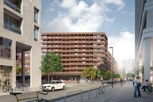 Der Entwurf für QH Core sieht neben 12.530 m² Bürofläche auch rund 170 hochwertige Wohnungen vor, viele davon mit Balkons oder verglasten Loggien