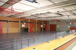 Die Dreifeldhalle vor …