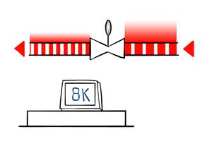 Die Messdaten der Temperaturfühler werden konstant mit einem anlagenspezifisch ermittelten Referenzwert (hier 8 K) verglichen