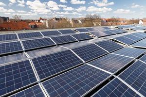 Photovoltaik-Anlage an der Straße Käthnerort