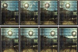 Rechts: Verschattung der Sonne durch einen mitwandernden Abdunklungsfleck. Blick von innen nach außen
