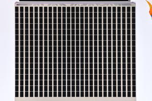 """TN-Modul in zwei unterschiedlichen Schaltzuständen: alle Pixel im Zustand """"An"""", ..."""
