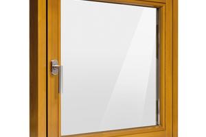 Hochwertige Designfenster aus Holz werden mit einem vollverdeckten Drehkipp-Beschlag gefertigt. Ohne sichtbare Beschlagteile schließt er innen flächenbündig