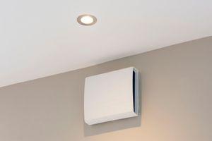 Für die energieeffiziente Lüftung wurde ein dezentrales Lüftungssystem verbaut
