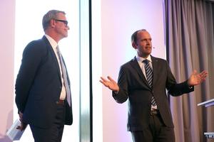 Geschäftsführer Gunther Gamst (rechts), und Bernhard Schöner, Leiter der Marketingabteilung (links) bei Daikin, führten durch das Programm