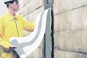 Gebäudetrennfuge mit Fugenabdichtband