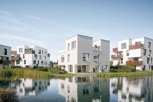 """Insgesamt 129 Wohneinheiten beherbergt das moderne Wohnquartier """"Fünf Morgen-Dahlem Urban Village"""" im Südwesten der Hauptstadt Berlin.&nbsp; <br />"""