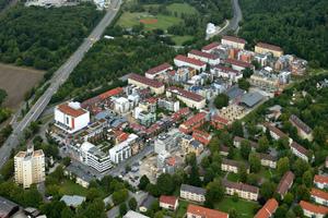 Das heutige Französische Viertel im Luftbild<br /><br />