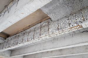Schadhafte Decke: Die Tragfähigkeit der Beton-Rippendecke war nicht mehr sichergestellt