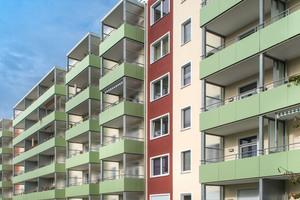 Vorgeständerte Balkone sichern die Wärmebrückenminimierung und damit hohen Wärmeschutz