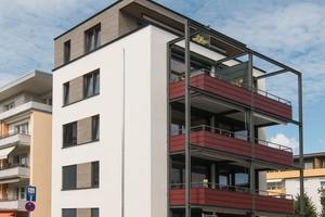 Fünfgeschossiger Holzbau mit Holzfaserdämmung in Lörrach