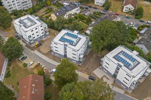 """<irspacing style=""""letter-spacing: -0.02em;"""">In lockerer städtebaulicher Anordnung schaffen die Viergeschosser ansprechenden Wohnraum inmitten spannungsvoll gestalteter Freiraumzonen</irspacing>"""