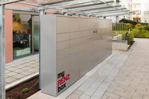 Jeder Mieter der BG Esslingen kann Fußläufig auf die myRENZbox zugreifen<br />