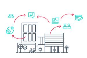 Mittels digitaler Kommunikationskanäle sind Kunden über jeden Arbeitsschritt, beispielsweise im Fall eines Schadens, informiert und können den Bearbeitungsstatus jederzeit einsehen<br />