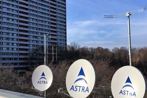 Parabolantennen der SAT-ZF-Anlage in der Wohnstadt Asemwald