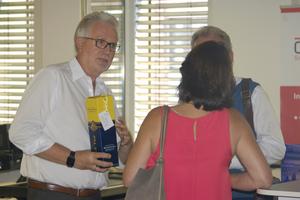 QDS-Geschäftsführer Reinhard Heymann am Tag der Büro-Neueröffnung im Sommer 2018