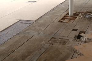 Sanierung des Bodens im Hofgerichtssaal