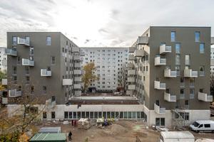 Errichtet wurden die beiden Wohntürme mit Ytong Porenbeton und Silka Kalksandstein, die sich aufgrund ihrer Eigenschaften im mehrgeschossigen Wohnungsbau ergänzen