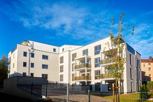Sowohl bei den Außen- wie auch den Innenwänden der Wohnanlage kam das UNIKA Kalksandstein Planelemente Bausystem zum Einsatz