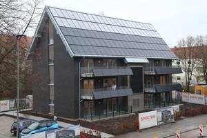 Das Mehrfamilienhaus versorgt sich zu zwei Dritteln selbst mit Wärme und Strom