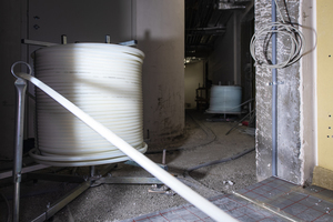 Für die Fußbodenheizung werden 300 km Rohrleitung des Typs Uponor Comfort Pipe verlegt<br />