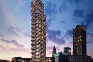 Gleich neben dem Einkaufszentrum Skyline Plaza steht der mehrfach preiskrönte Grand Tower<br />