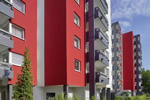 Die signalgebende Farbigkeit hat eine revitalisierende Wirkung und stärkt die Identifikation mit dem gesamten Quartier