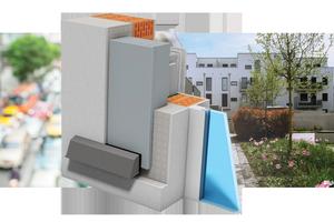 Der Thermo-Lüfter 1230 von LTM – hier mit Fassadenabschluss Luftführungskanal Schall