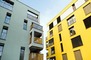 In Landshut wurden fünf Mehrgeschossbauten mit massiven Mauerziegeln verwirklicht. Wichtig für die statische Bemessung war die Druckfestigkeit des Baustoffes